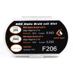 Pack N80 Alpha Braid Coil 2 en 1 - Geek Vape