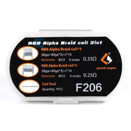 Pack N80 Alpha Braid Coil 2 en 1
