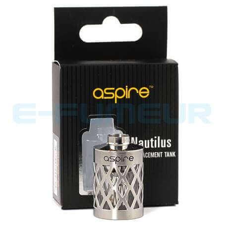 Tube acier & acier/pyrex Aspire Nautilus