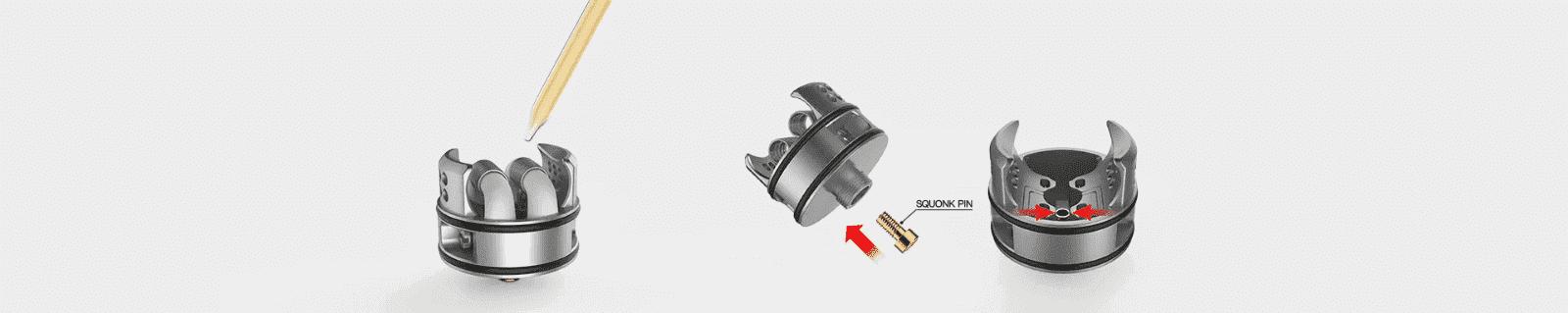 Dripper Recurve Dual RDA Wotofo Compatible BF