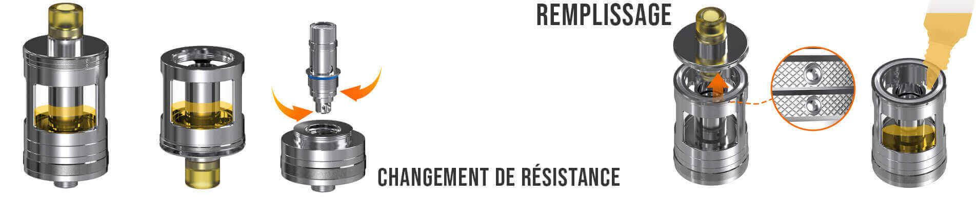 Remplir ou Changer sa résistance Nautilus GT Aspire Taifun