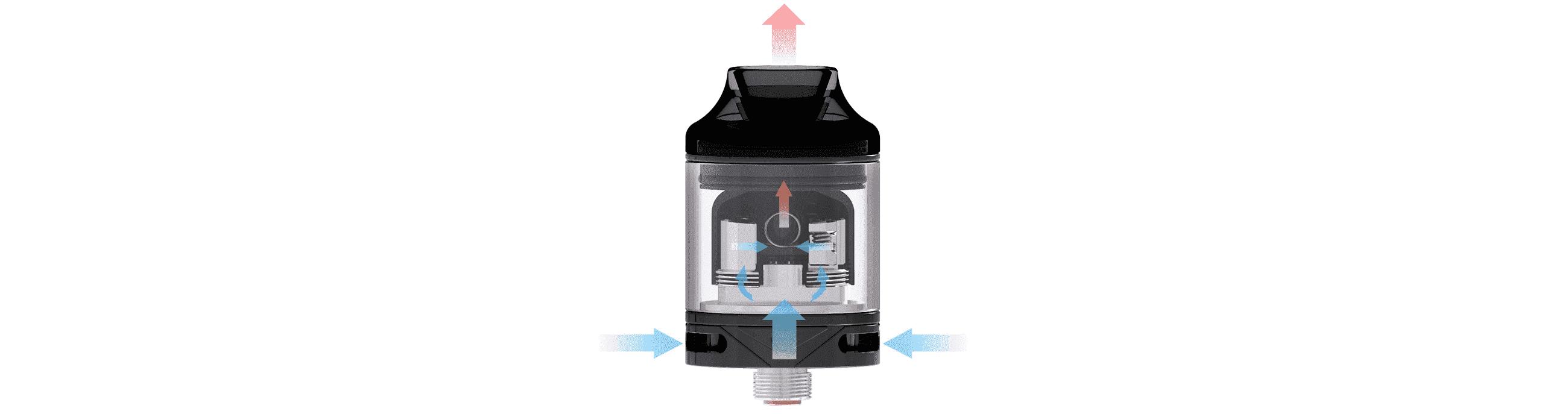 Système d'airflow du Wasp Nano RTA par Oumier