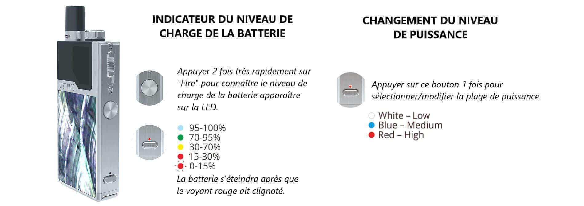 Batterie kit Orion DNA Lost Vape