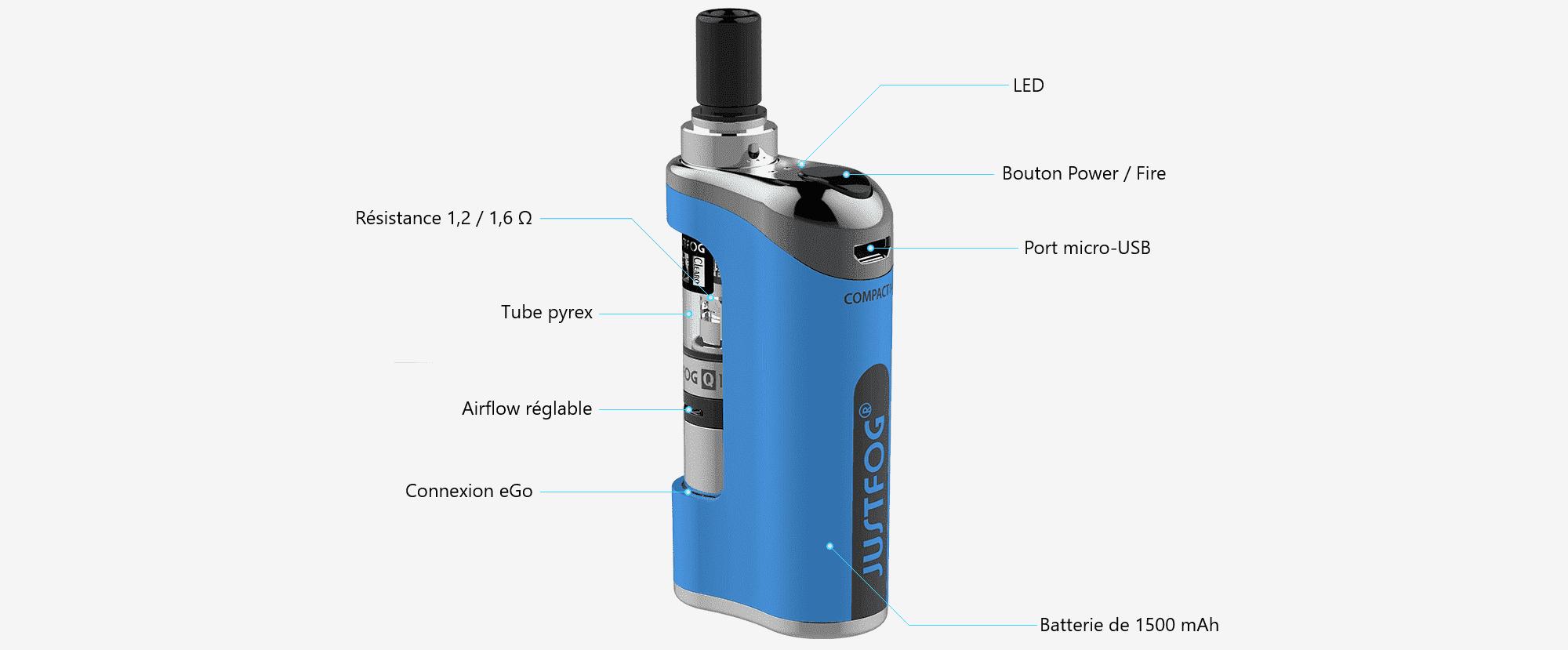 Détail du kit Compact 14 Q14 par Justfog