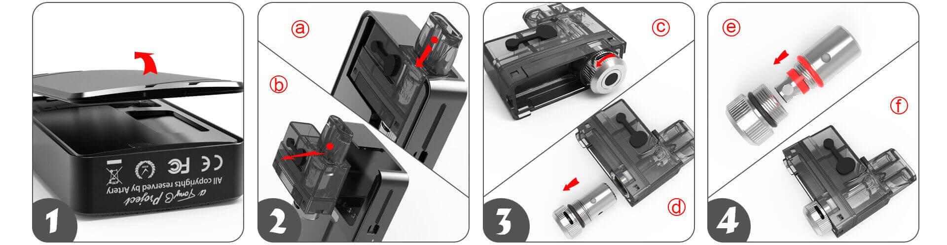 Comment changer sa résistance pour kit Pal 2 Pod Artery