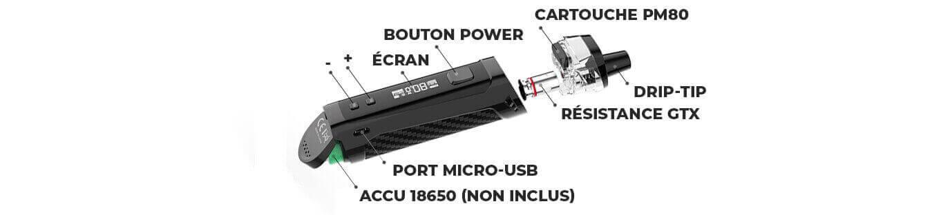 Composition kit pod PM80 SE Vaporesso