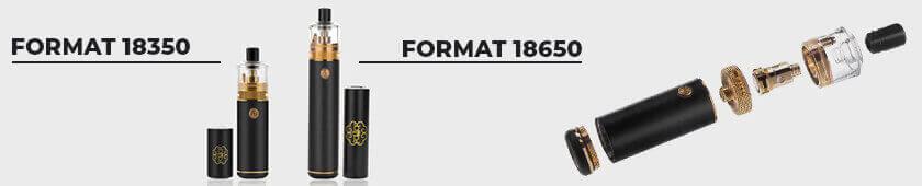 Format et vue éclatée kit DotStick DotMod